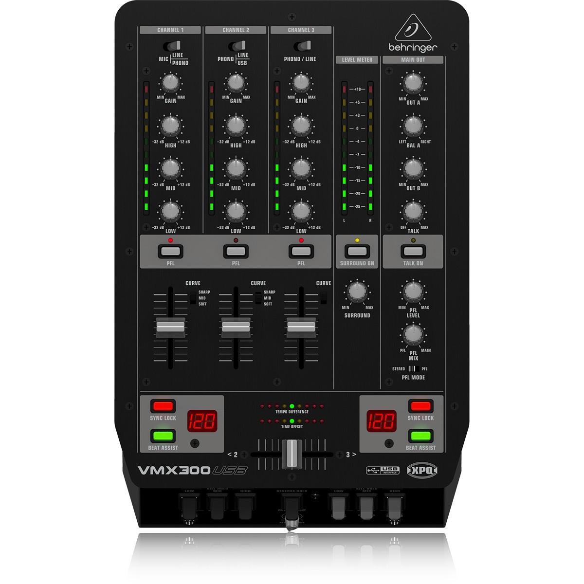 Behringer VMX300 Usb Mixer de Dj de 3 Canais, 220v