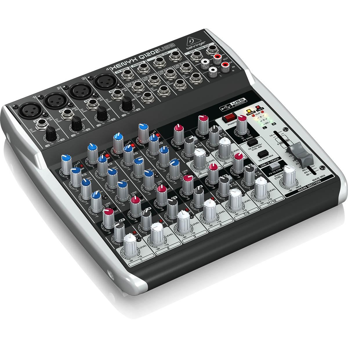 Behringer Xenyx Q1202Usb Mesa Mixer, 220v