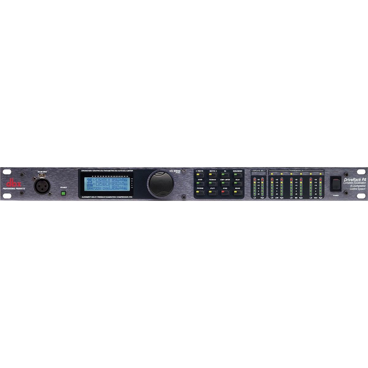 Dbx PA Processador Crossover Digital Áudio, Bivolt