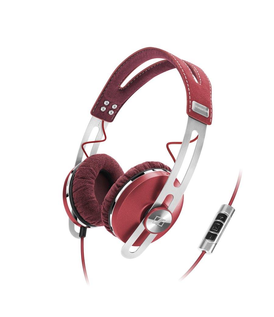 Sennheiser Momentum On-Ear Fone de Ouvido, Vermelho