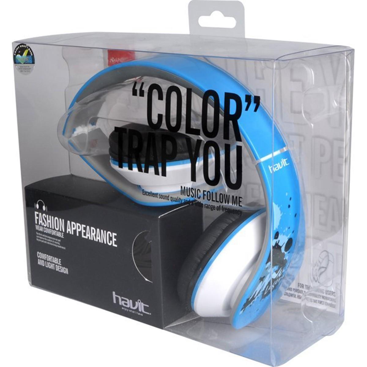 Havit HV-H85D Fone de Ouvido, Azul