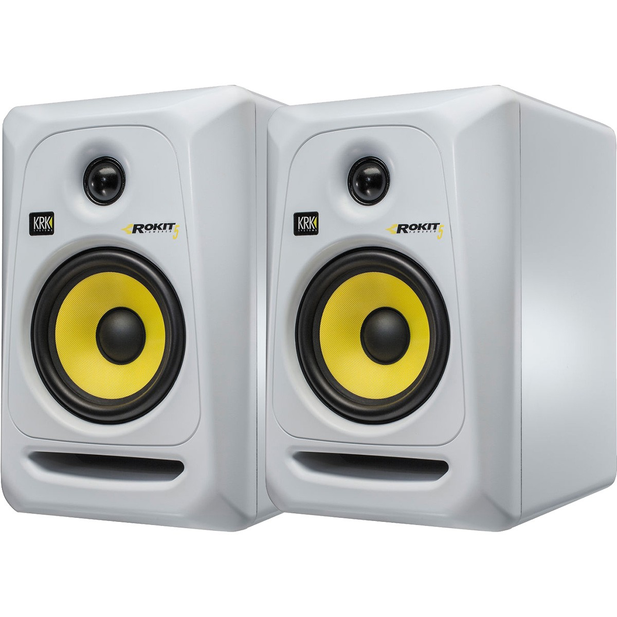 Krk RP5 G3 Rokit Powered Monitor de Audio Referencia para Estudio, Branco, 220v, Par