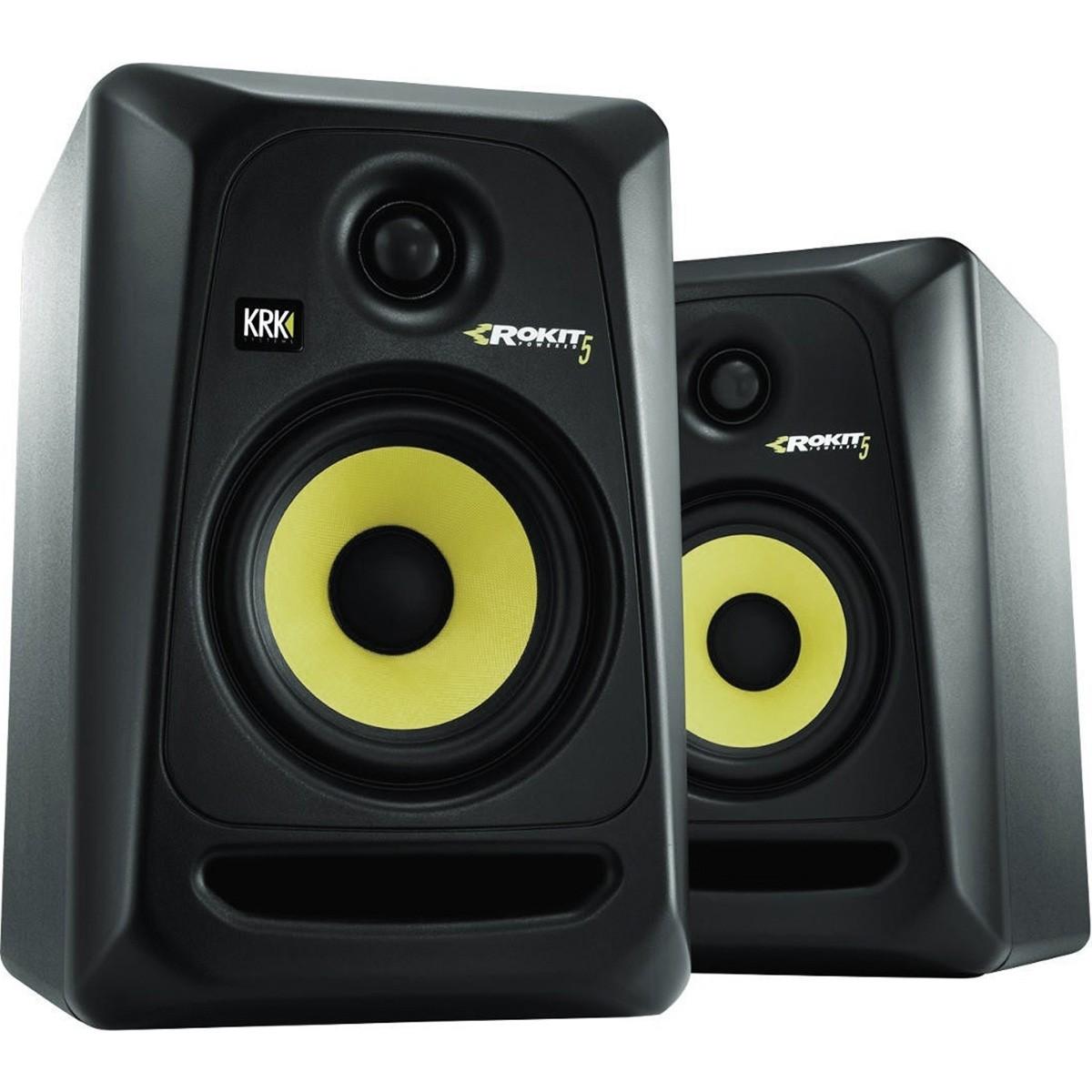 Krk RP5 G3 Rokit Powered Monitor de Audio Referencia para Estudio, Preto, 110v, Par