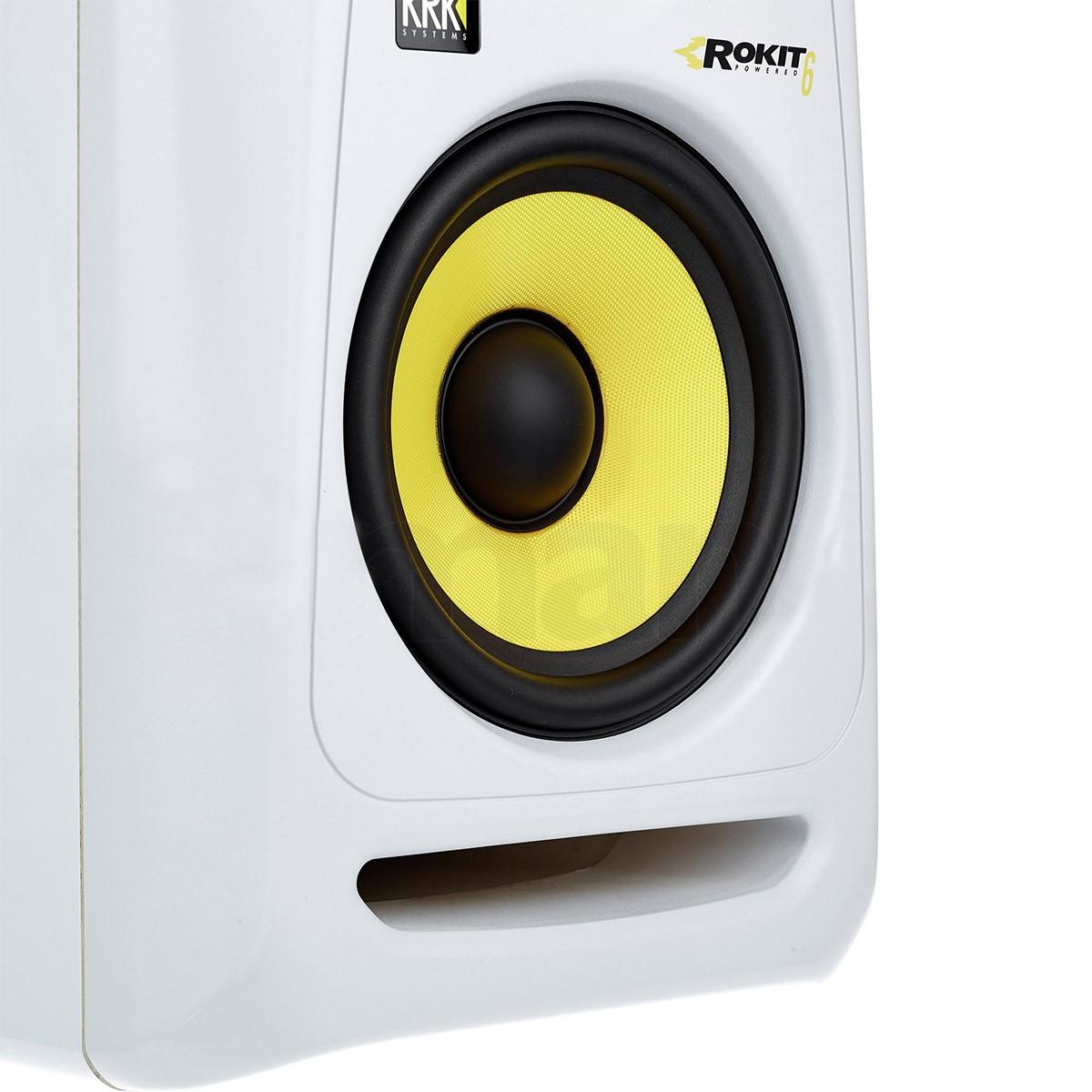 Krk RP6 G3 Rokit Powered Monitor de Audio Referencia para Estudio, Branco, 110v, Par