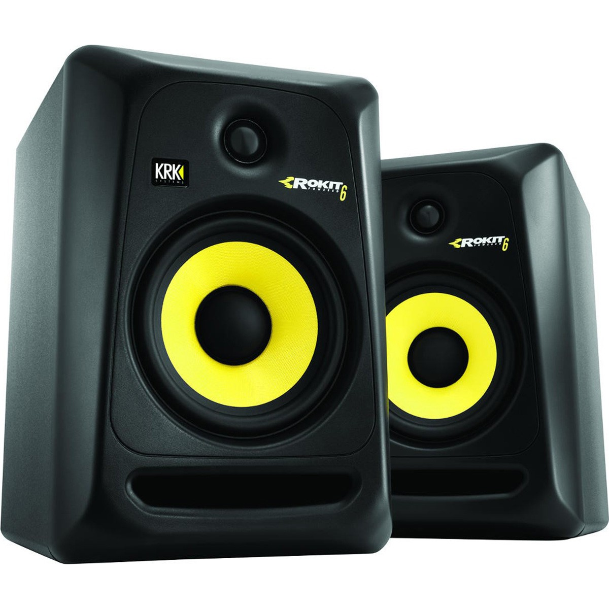 Krk RP6 G3 Rokit Powered Monitor de Áudio Referencia para Estudio, Preto, 110v, Par
