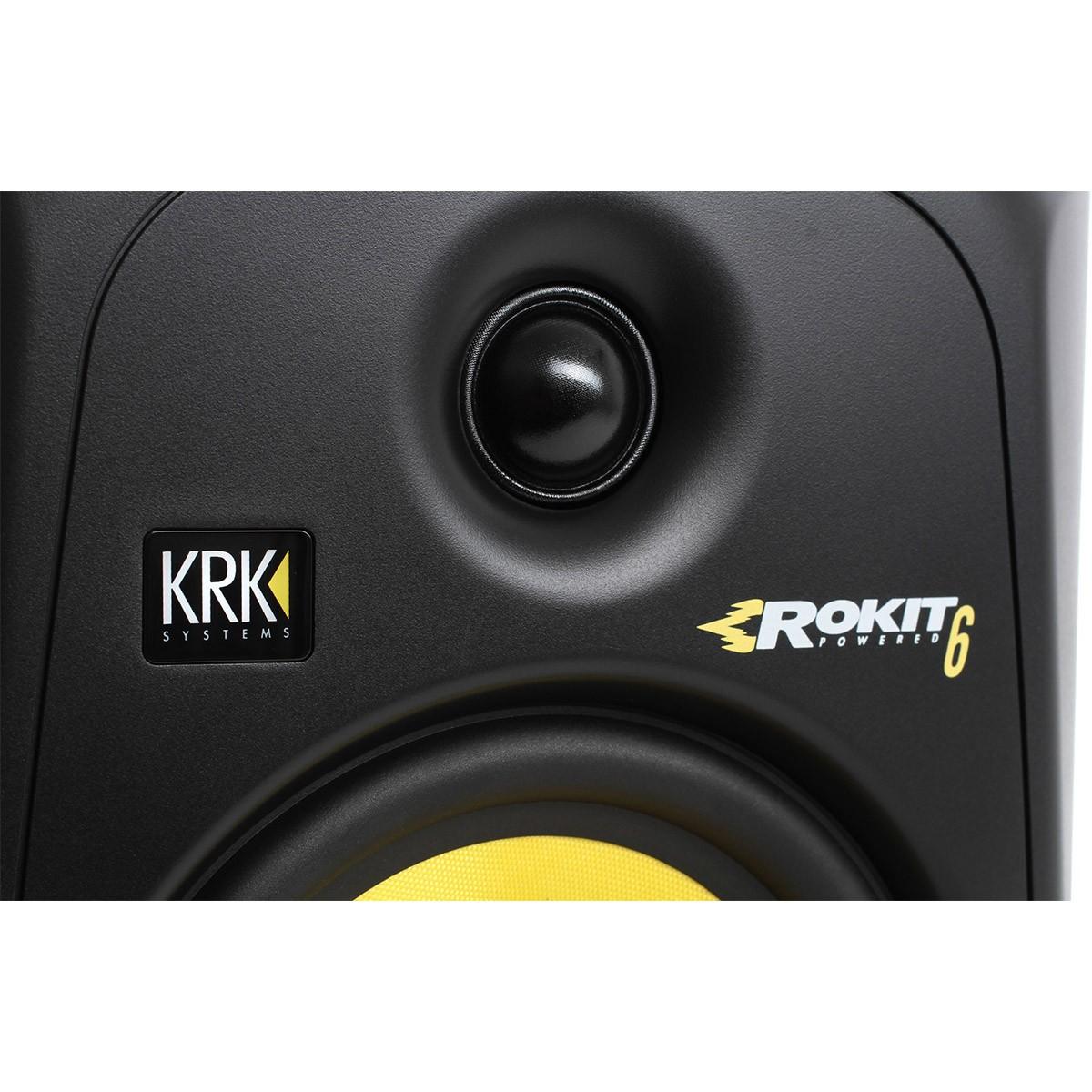 Krk RP6 G3 Rokit Powered Monitor de Áudio Referencia para Estudio, Preto, 110v, Unidade