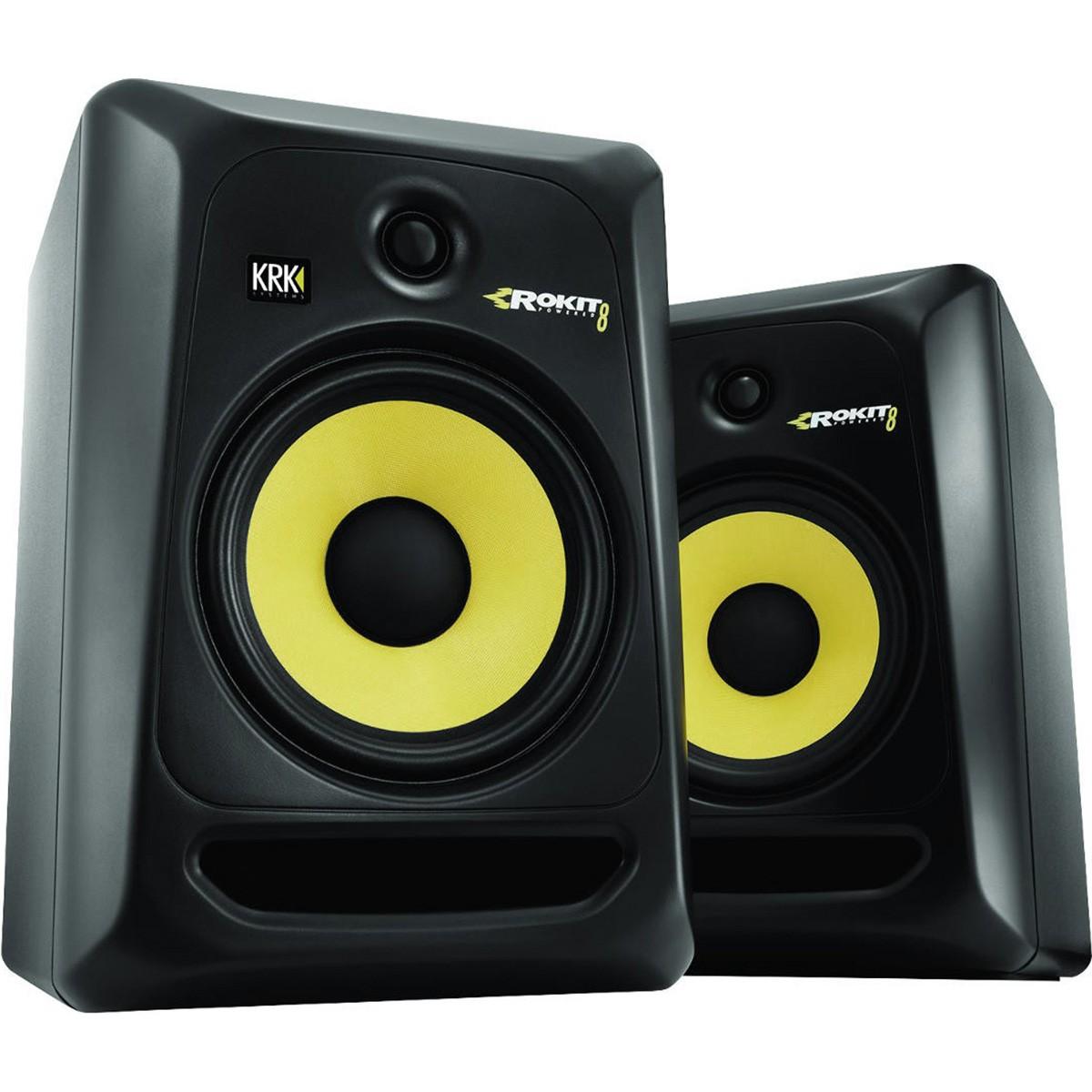 Krk RP8 G3 Rokit Powered Monitor de Áudio Referencia para Estudio, Preto, 110v, Par