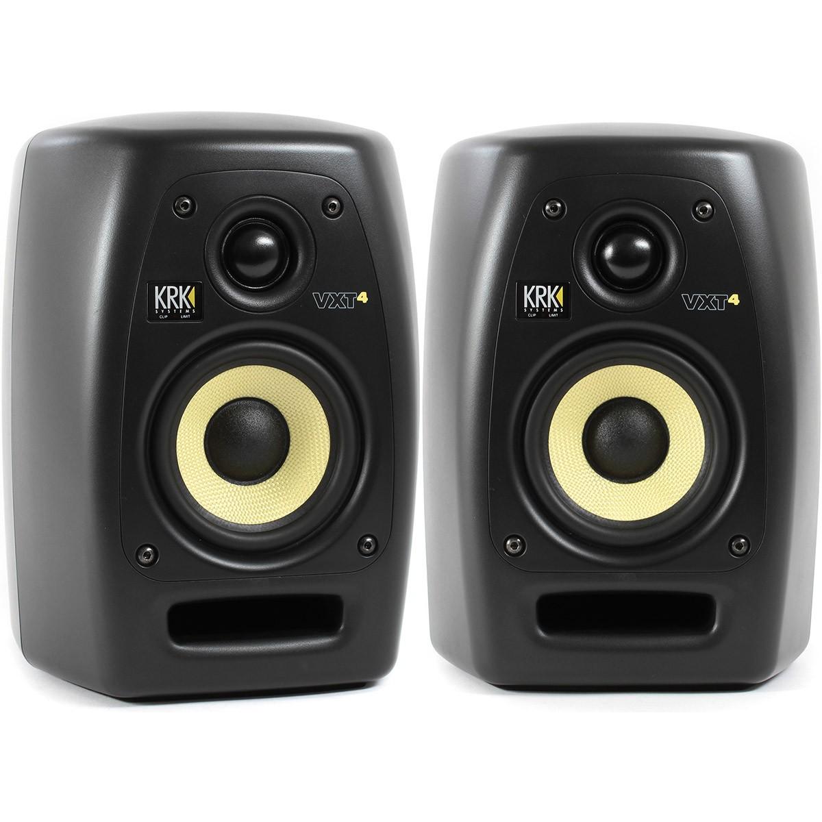 Krk VXT4 Monitor de Áudio Ativo 45W, 4'' 2-Vias, Preto, Bivolt, Par
