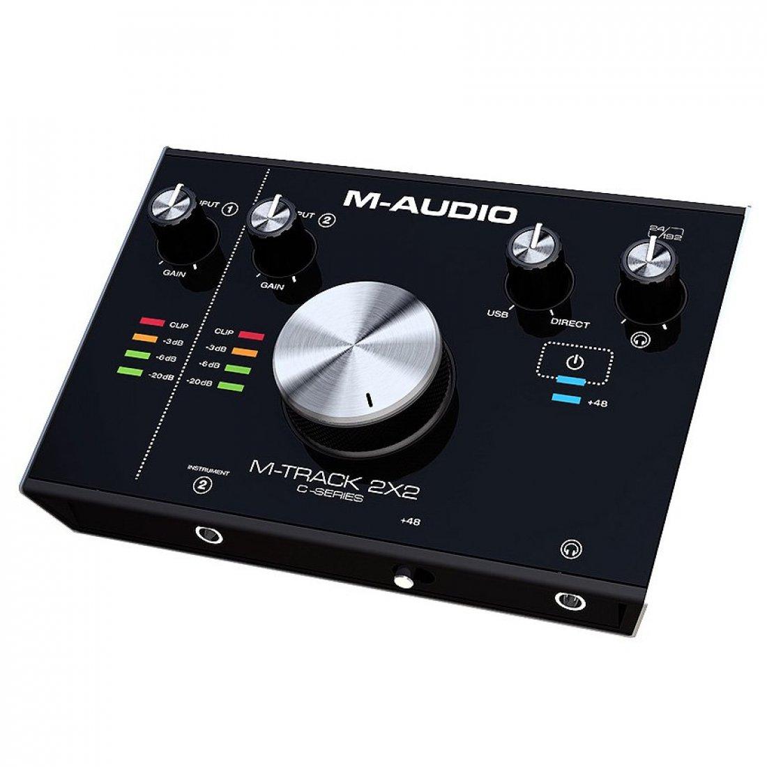 M - Audio M - Track 2x2 Interface de Audio USB, 2 Entrdas, 2 Saidas