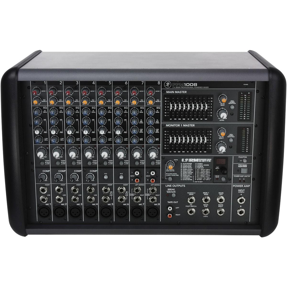 Mackie PPM1008 Mesa Mixer 8 Canais, 110v
