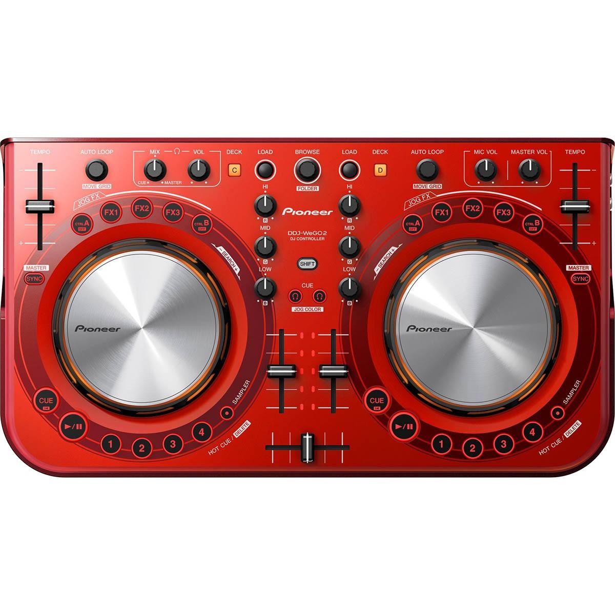 Pioneer DDJ-WEGO2 Controladora Dj, Vermelha, Usb