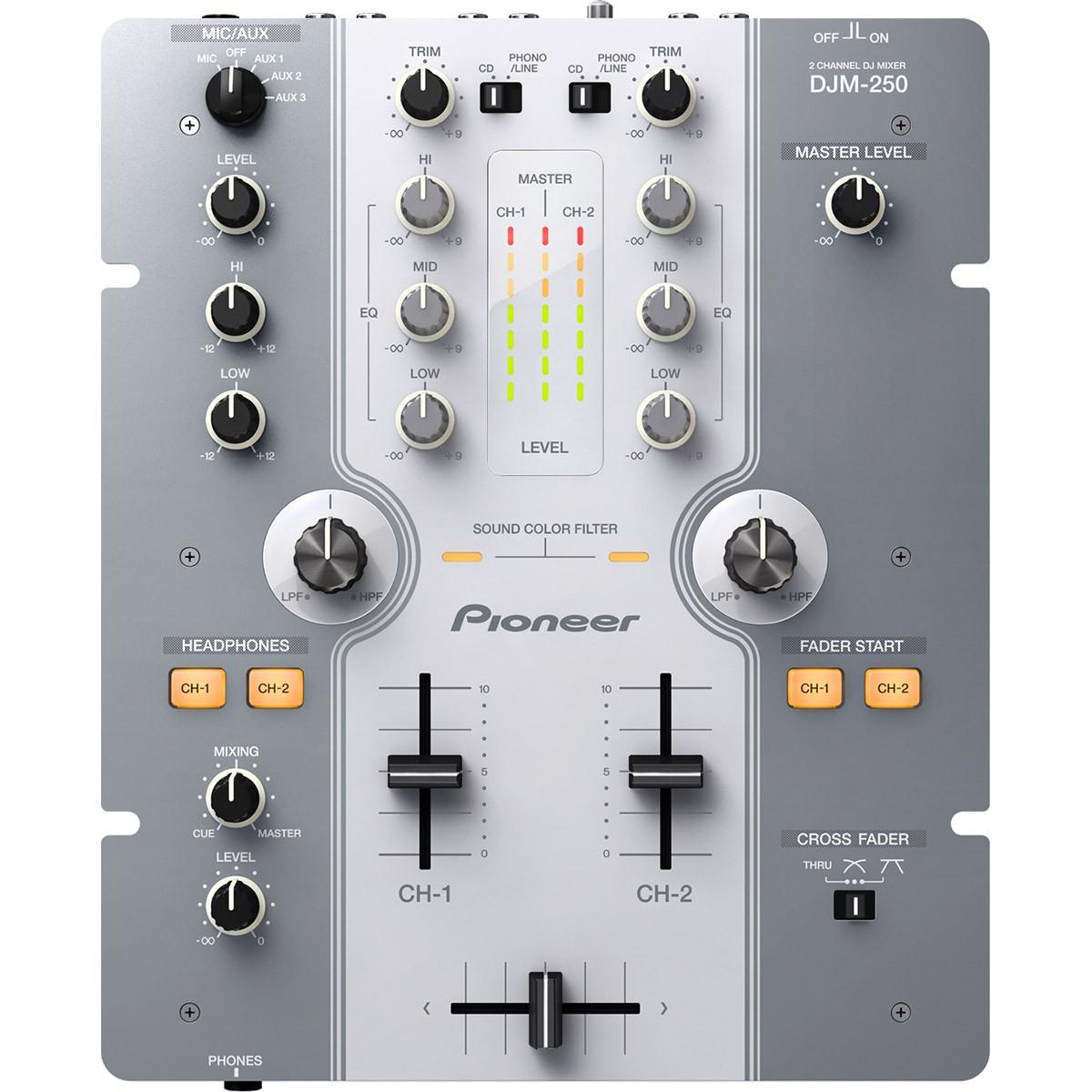 Pioneer DJM-250 Mixer Dj, Branco, bivolt