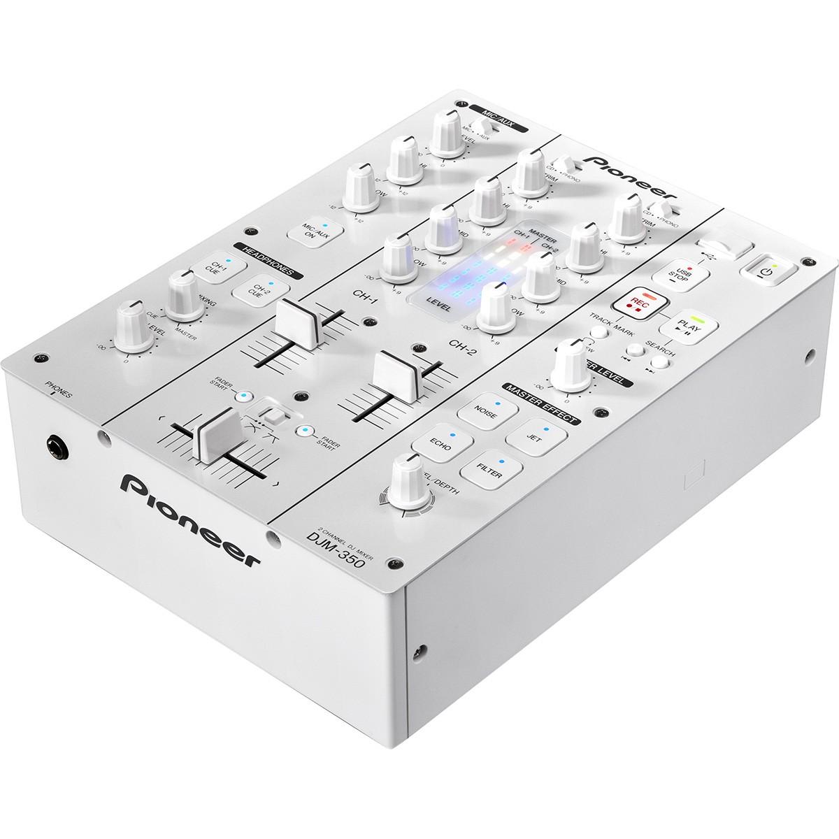Pioneer DJM-350 Mixer de Dj, 2 Canais, Branco, Bivolt
