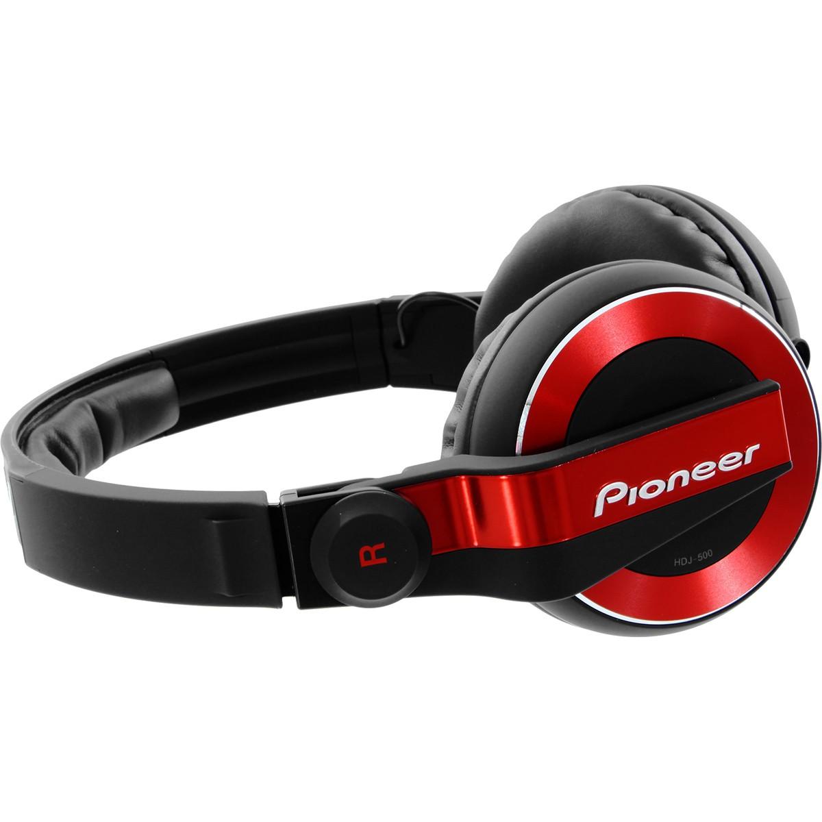 Pioneer HDJ-500 Fone para Dj, Vermelho