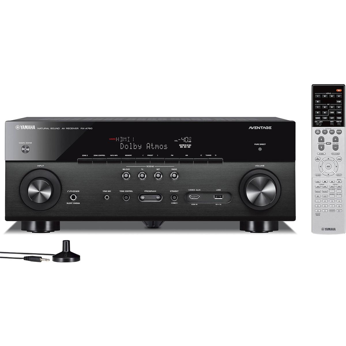 Receiver Yamaha RX-A860 7.2 Canais Filmes em 4K Wi-Fi Bluetooth Som Surround