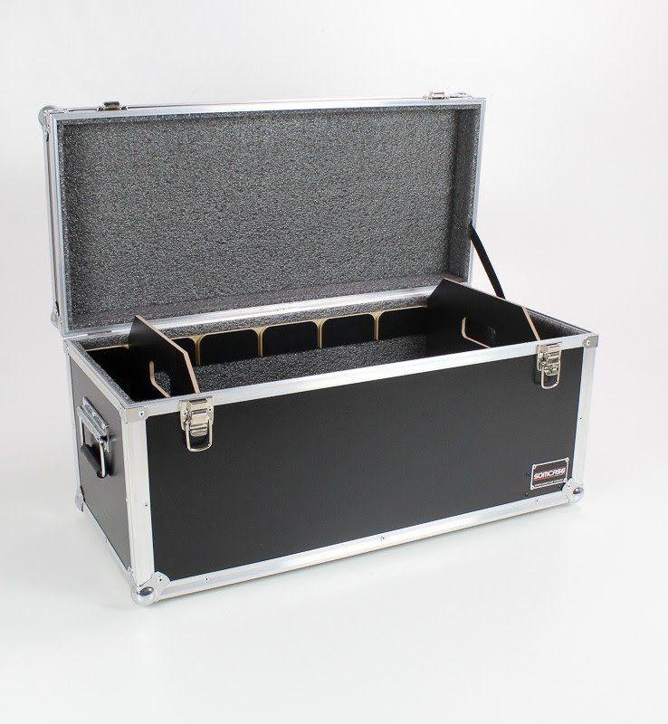 Hard Case Baú Acessórios (70x30x30) com divisões móveis  - SOMCASE
