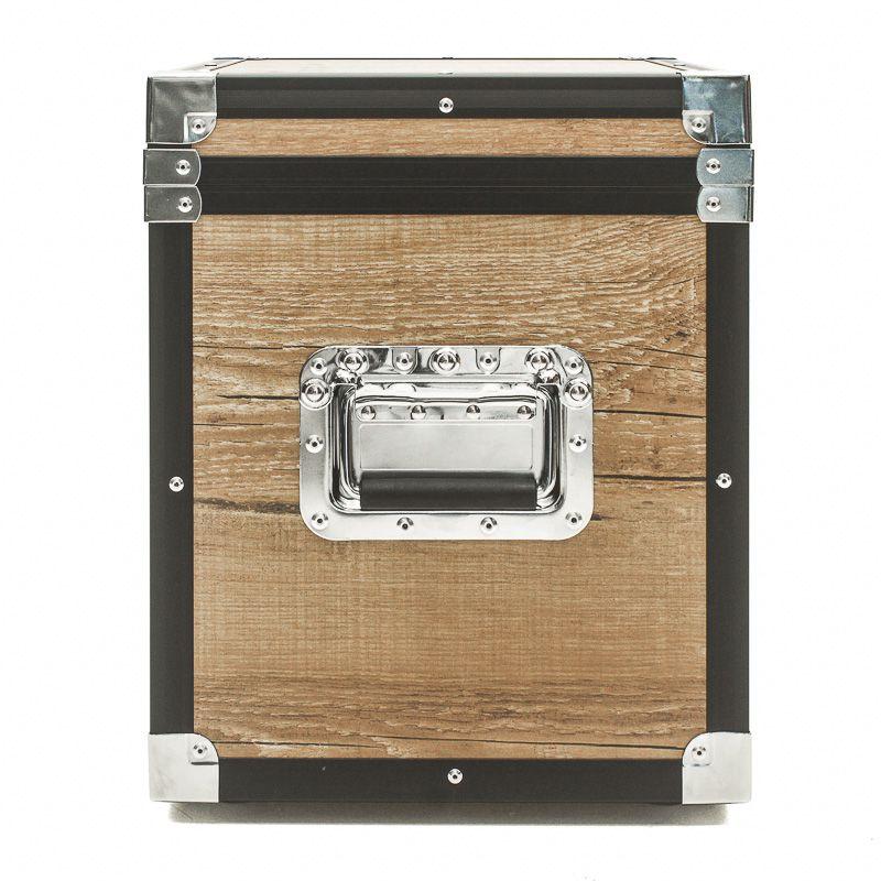 Hard Case Baú Decoração Acessórios 40x40x30 Black/vintage