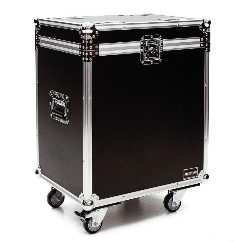 Hard case Caixa de som JBL PRX 812 Individual com Roda