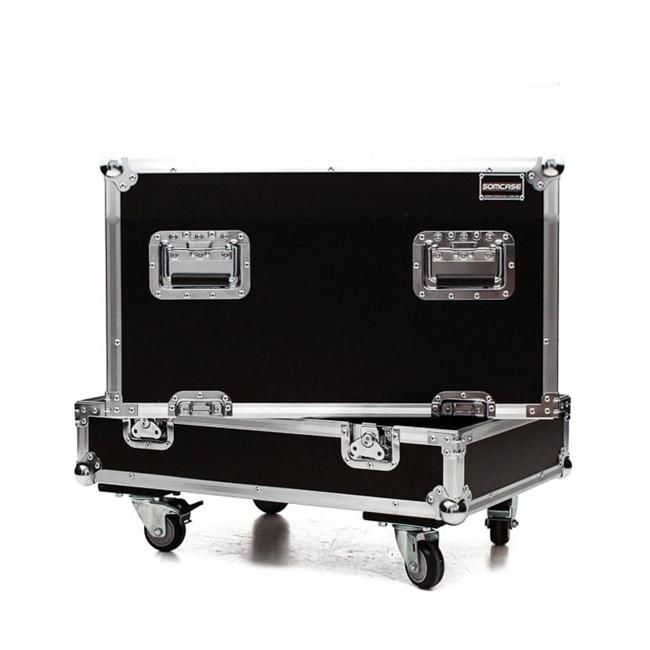Hard case Caixa De Som Mark audio LMK6 P/ 4 Caixas C/ Roda