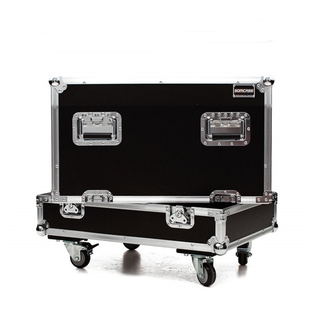 Hard case Caixa De Som Mark audio LMK8 P/ 4 Caixas C/ Roda