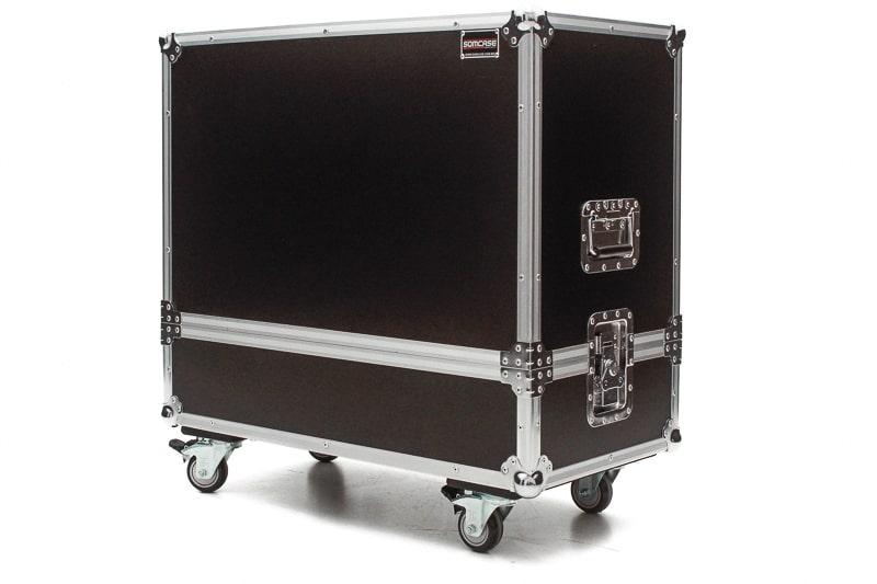 Hard Case Caixa de Som QSC CP12 Duplo com Roda