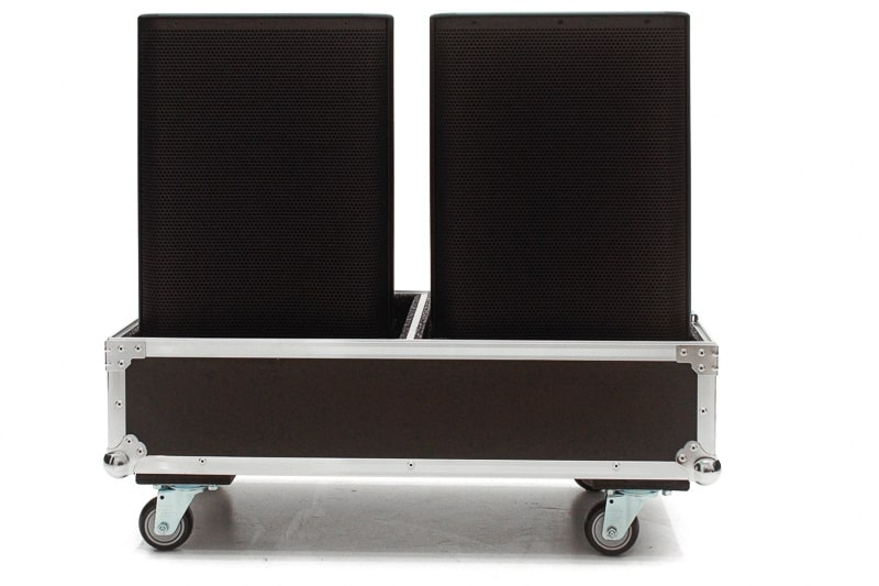 Hard Case Caixa de Som QSC CP8 Duplo com Roda