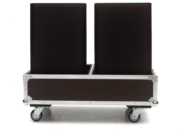 Hard Case Caixa de Som QSC K10 e K10.2 Duplo com Roda