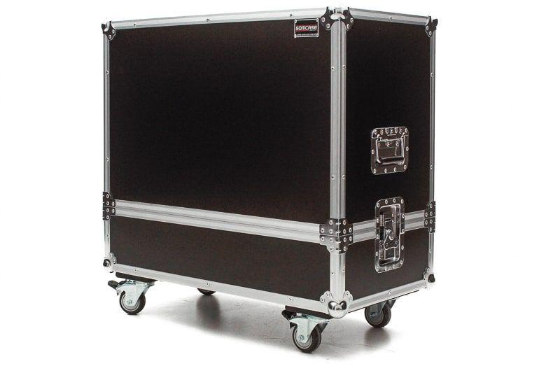 Hard Case Caixa de Som QSC K12 e K12.2 Duplo com Roda