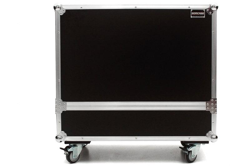 Hard Case Caixa de Som QSC K8 e K8.2 Duplo com Roda
