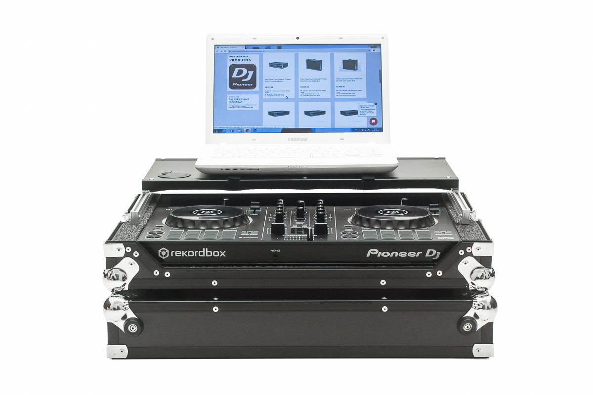 Hard Case Controladora Pioneer DDJ RB C/ Plataforma Black/Chromo