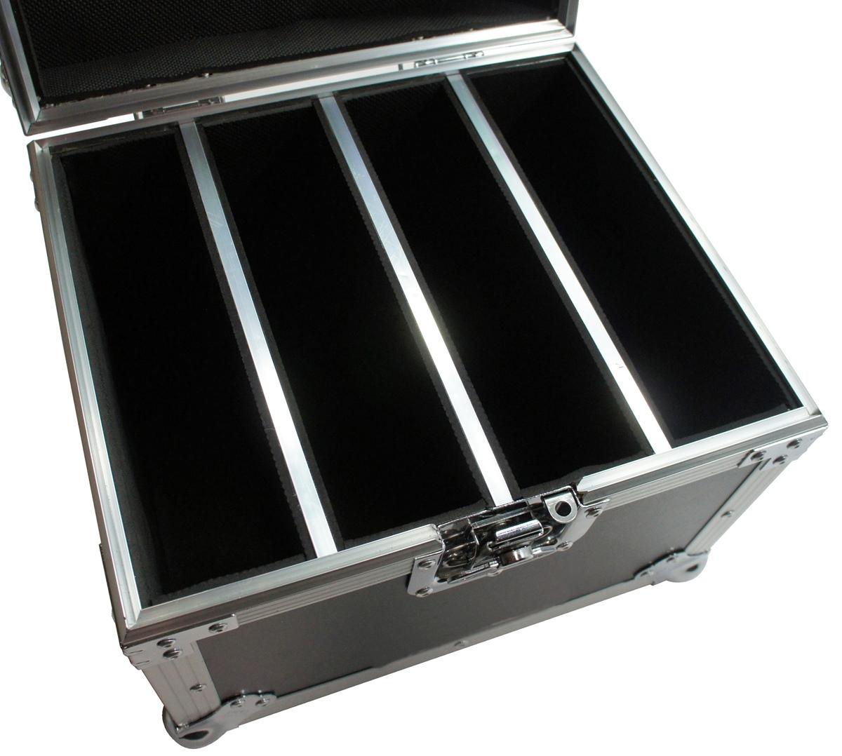 Hard Case Estojo 4 Refletores Canhão Par 64 Led Slim - emb6
