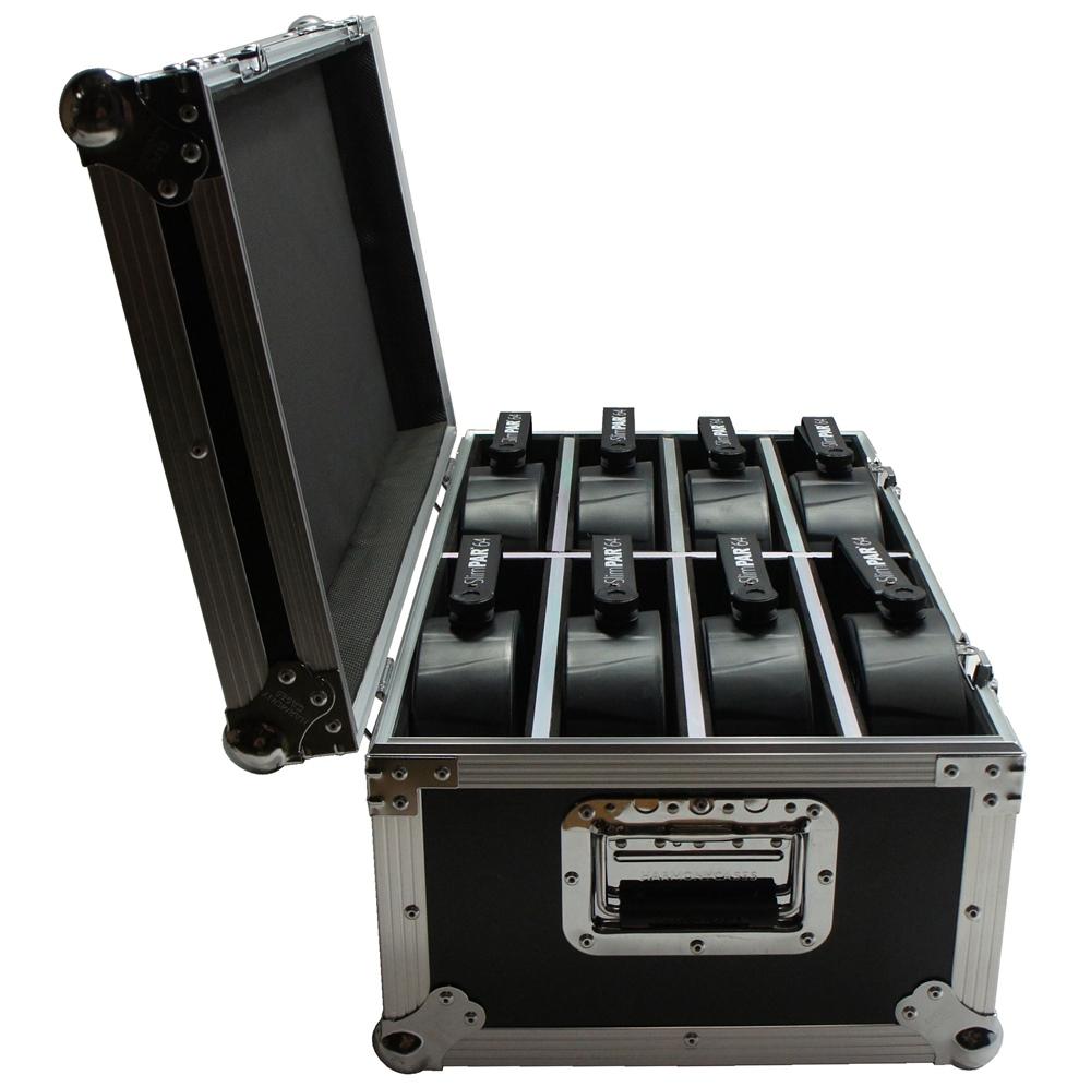 Hard Case Estojo 8 Refletores Canhão Par 64 Led Slim - emb6