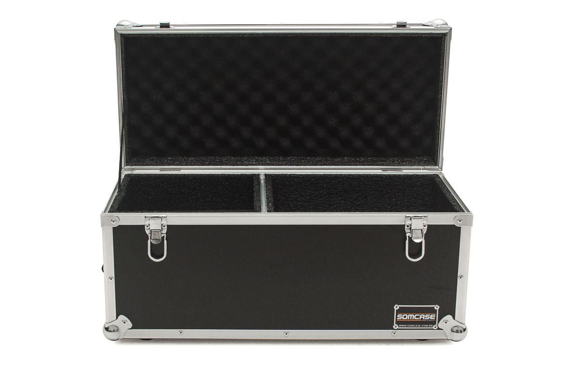 Hard Case Estojo Baú 9 Microfones c/ Espaço acessórios