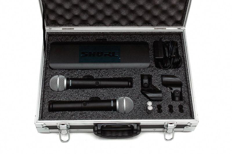 Hard Case Maleta Para Microfone Sem fio SHURE BLX 288  PG58  - SOMCASE