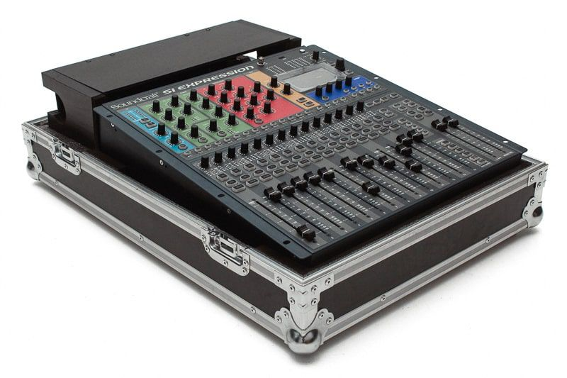 Hard Case Mesa Soundcraft Si Expression 1 com cable box