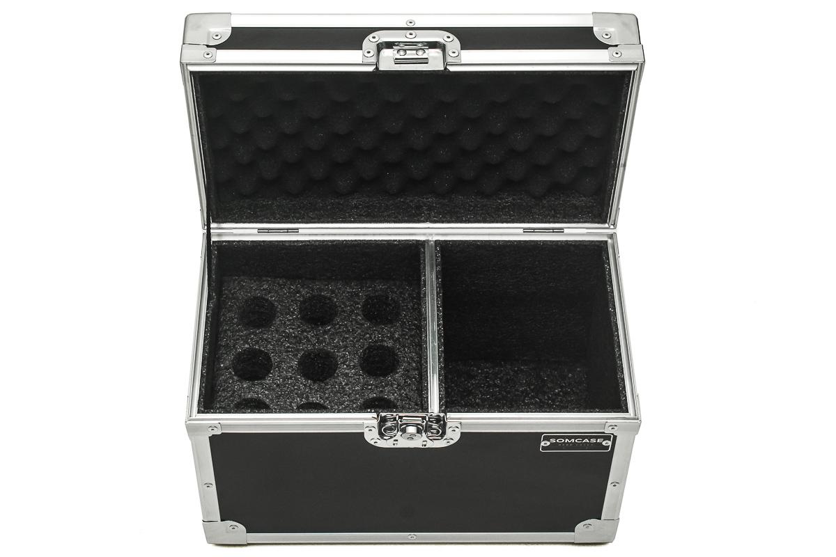Hard Case Microfone Baú 9 Microfones Shure, Sennheiser, Akg