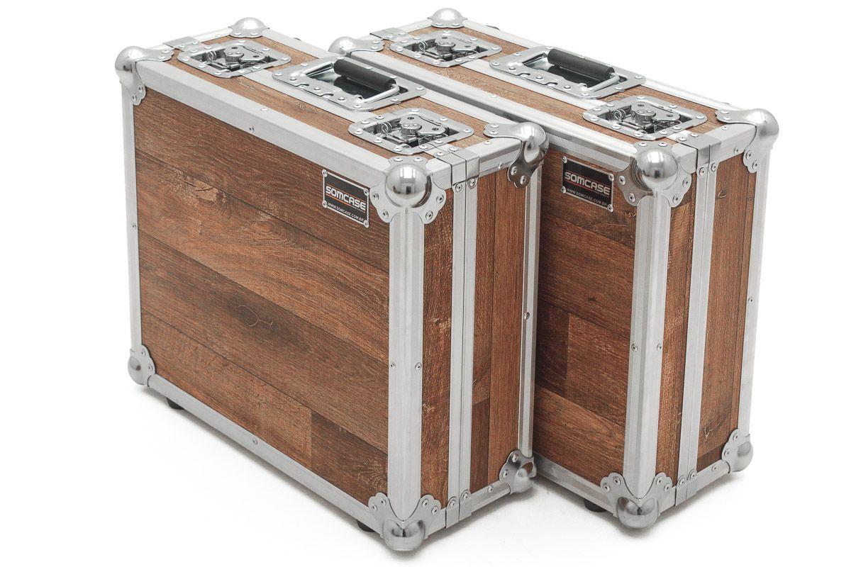 Hard Case Para Par De Toca Disco Technics Mk2 Vintage