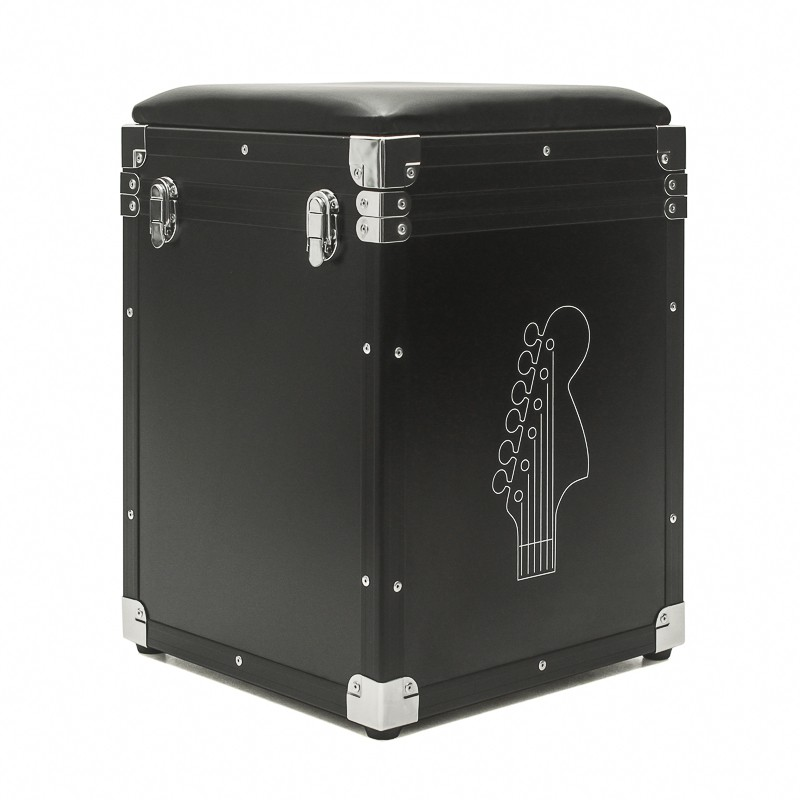 Hard Case PUFF Baú com tampa Black Chrome