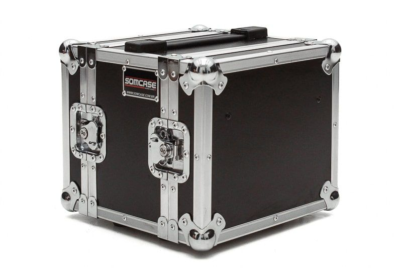 Hard Case Rack 2U MINI RACK Microfones s/ Fio - EMBp6  - SOMCASE