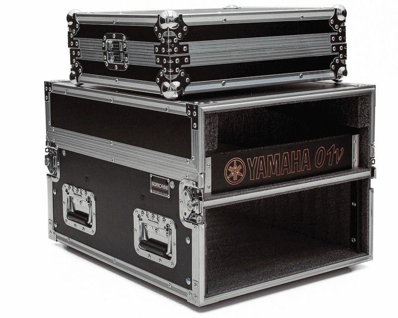 Hard Case Rack 4U Periféricos c/ Mesa O1V -EMB10