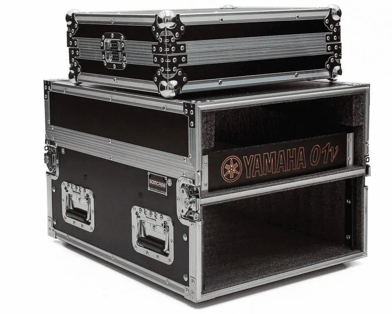 Hard Case Rack 6U Periféricos c/ Mesa O1V