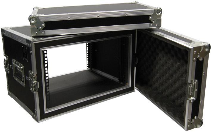Hard Case Rack 6U Periféricos c/ suspensão - EMB10