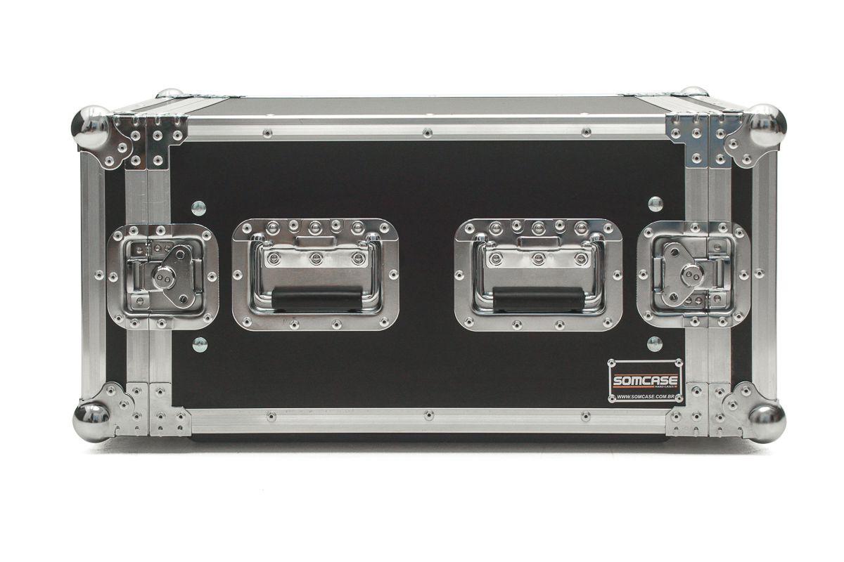 Hard Case Rack 8U Amplificadores c/ Gaveta 2u  - EMB10