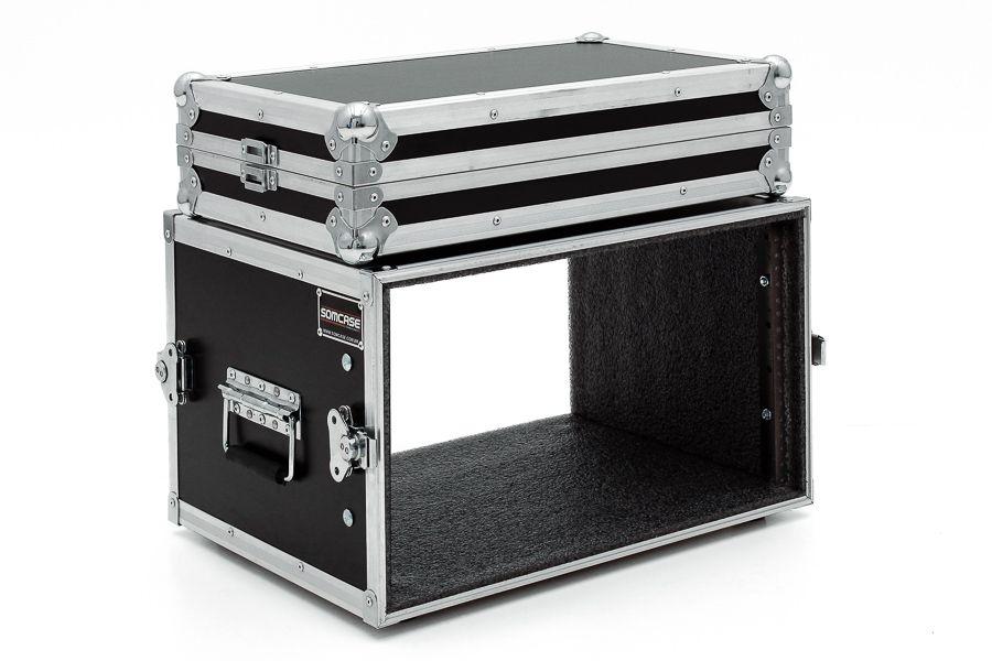 Hard Case Rack 8U Periféricos - PRONTA ENTREGA
