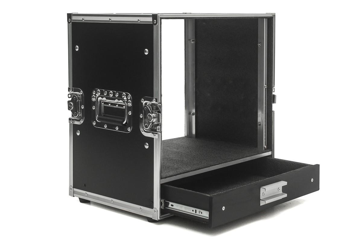 Hard Case Rack 9U Periféricos com gaveta