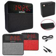 Caixa De Som Bluetooth 10W RMS Com Rádio e Relógio Exbom CS-MT3BT