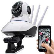 Câmera de Seguranca IP Wireless Robozinho 3 Antenas AHD 720P Com Infravermelho Gira 360 graus