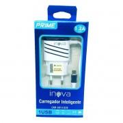Carregador Celular 1 Saída USB 1.2A Cabo Micro USB V8 Inova CAR-G5014-G28