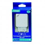 Carregador Celular 2 Saidas USB 3.1A Rapido Inova CAR-5204
