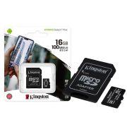 CARTAO DE MEMÓRIA MICRO SD 16GB CLASSE 10 SDCS2/16GB SDHC 100MB/S KINGSTON CANVAS SELECT PLUS ORIGINAL
